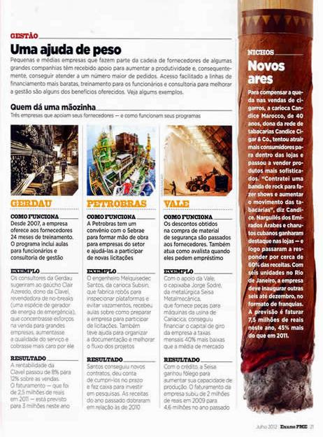 Revista Pequenas e Médias Empresas EXAME - Gestão - Novos Ares - Candice Cigar Co