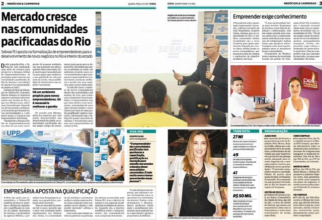 Jornal O Dia - Negócios & Carreiras - Empresária Aposta na Qualificação - Candice Cigar Co 2